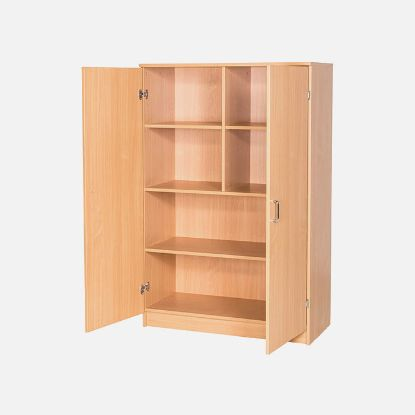 Picture of School Classroom Triple Divided Strorage Cupboard