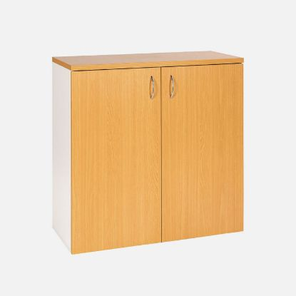 Picture of Velocity 900mm Storage Cupboard Golden Beech