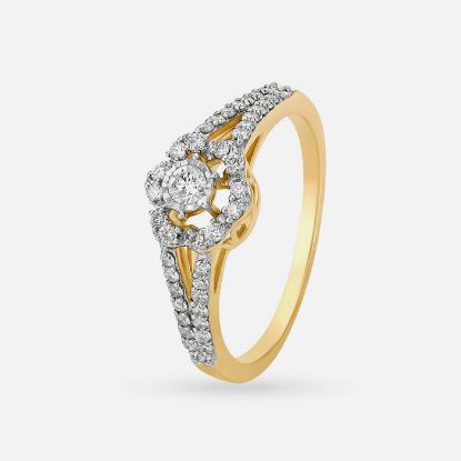 Picture of Yellow Gold And Diamond Ring