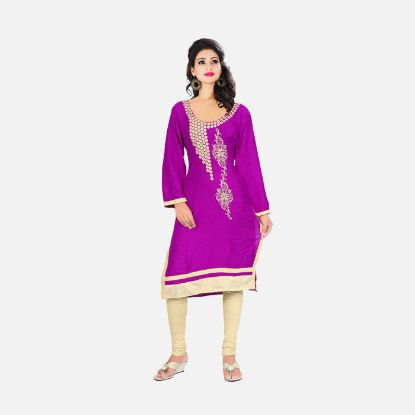 Picture of Fashion Casual Embroidered Women Kurti