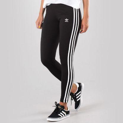 Picture of Adidas Original 3 Stripes Leggings Black