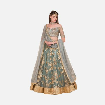 Picture of Ultrasave Women Net Satin Lehenga