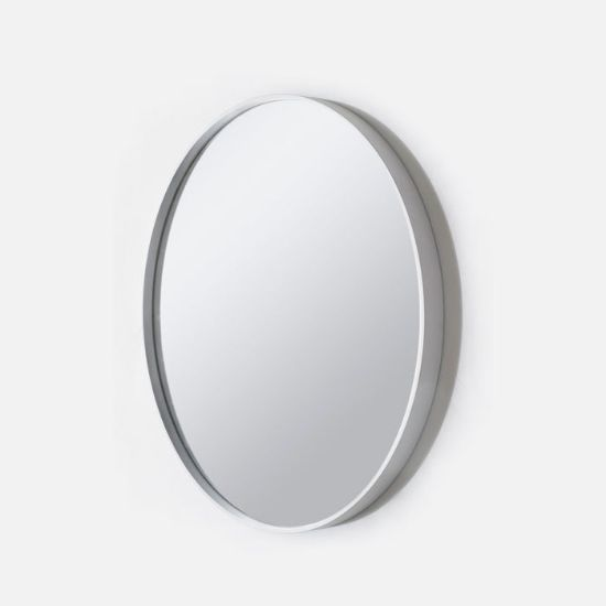 Picture of Deep Frame Round Mirror White