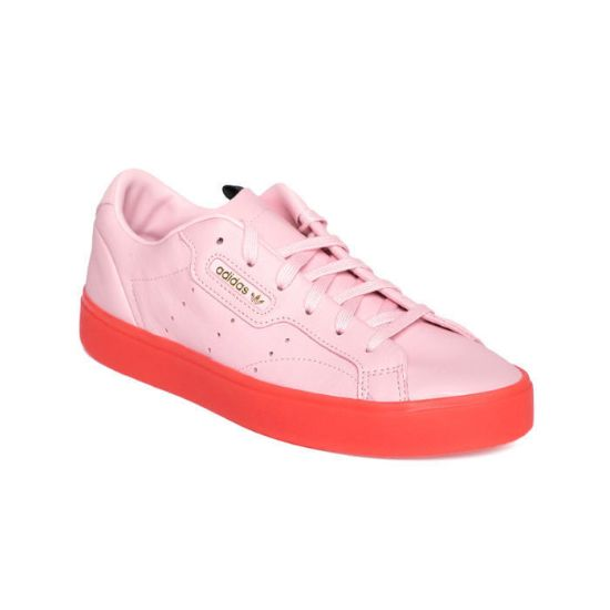 Picture of Women Pink Sleek Leather Sneakers