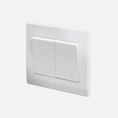 Picture of Simplicity Mechanical Light Switch 2 Gang white