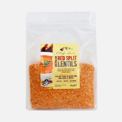 Picture of Chefs Choice Australian Red Split Lentils 1kg
