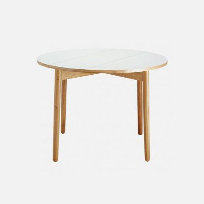 Picture of SUKI 2-4 seater white folding round dining table