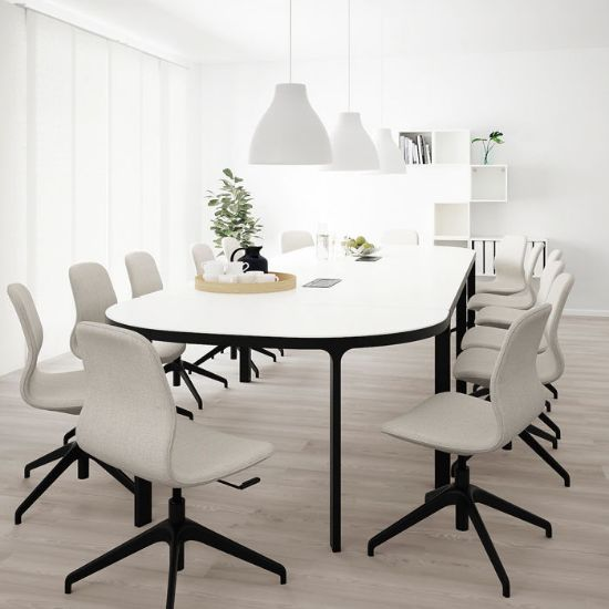 Picture of Bush Business Furniture 96W*42D Boat Shape Conference Table