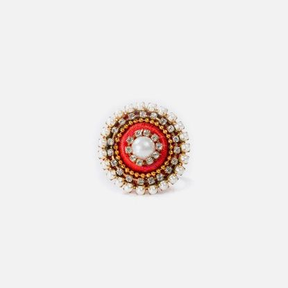 Picture of Red Color Silk Thread Finger Ring