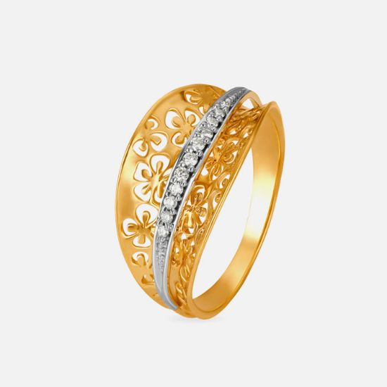 Picture of Yellow And White Gold Finger Ring