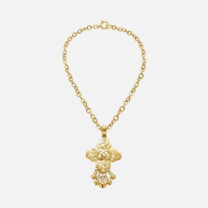 Picture of Gold Woven Bell Necklace