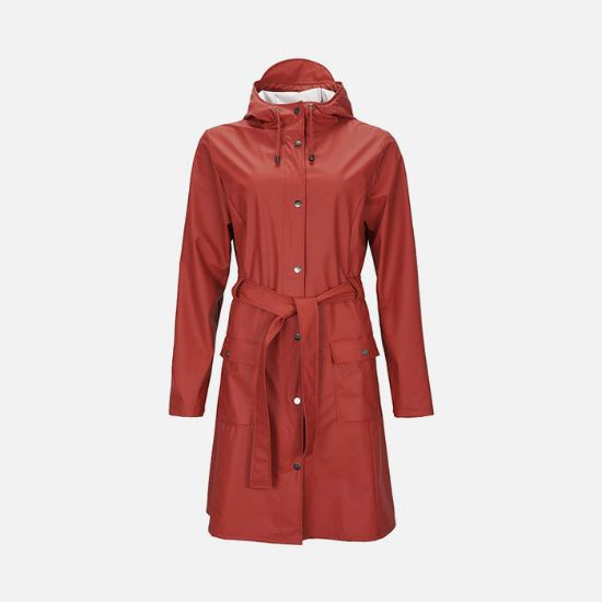 Picture of Rains Womens Curve Jacket Scarlet