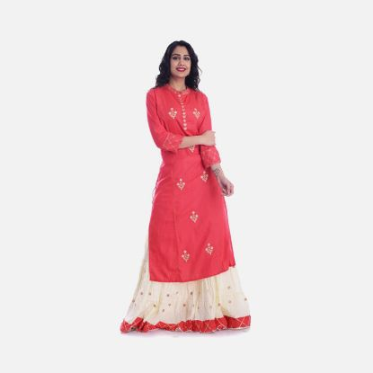 Picture of Asmani Dark Pink Handwork Women Kurti